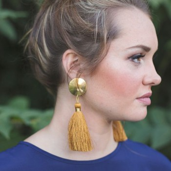 aretes, barbitas,tassel, earrings,6